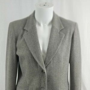 Pendleton Women's Size 10 Wool Gray Blazer